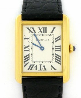 Cartier 18k Tank Solo Men's Large Watch