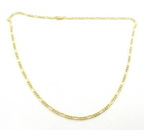 """14k Yellow Gold Figaro Solid Chain Necklace 4mm 20"""""""