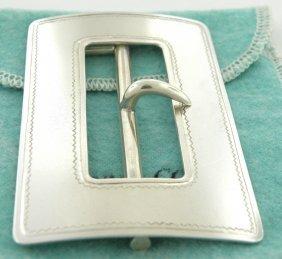 Vintage Tiffany & Co. Sterling Silver Huge Belt Buckle