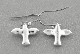 Tiffany & Co. Sterling Silver Dove Hook Earrings