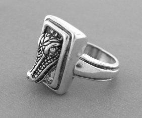 Kieselstein Cord Sterling Silver Alligator Ring