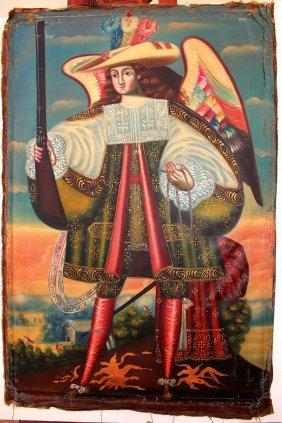 Cuzco School Cavalier Angel, 18th Century