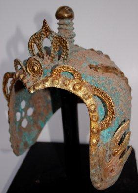 Ancieht Gilded Bronze Helmet