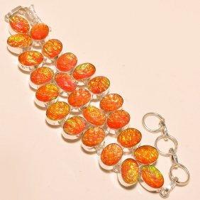Australian Triplet Opal Silver Bracelet