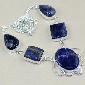 Sodalite Silver Necklace