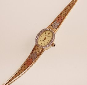 Solid 14k Gold Swiss Made Watch