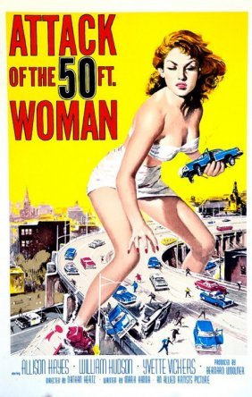 Attack Of The 50 Foot Woman Original Lithograph