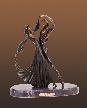 Tango Dancers Bronze Sculpture 26 Inches Approx.