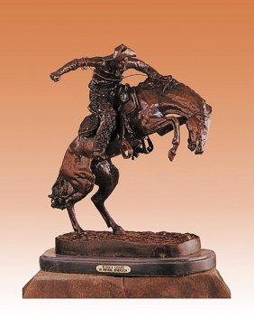 Frederic Remington Whooly Chaps Bronze Sculpture