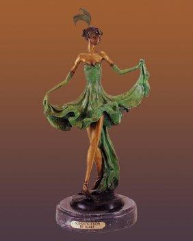 Dancer Bronze Sculpture 18 Inches Approx