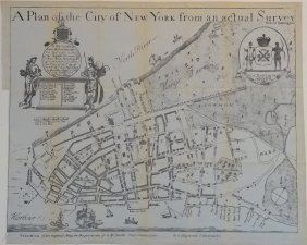 Plan Of City Of New York In 1728, C. 1851