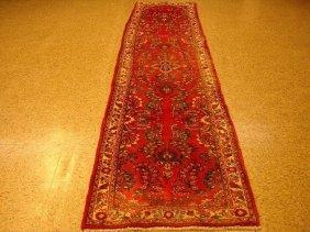 3x12 Old Persian Sarouk Lilihan Runner Iran 70's @nr$99