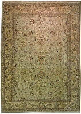 Hand Knotted Antiqued Textured 10x14 Chobi Peshawar Rug