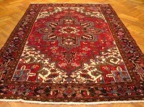 7x11 Authentic Handmade Semi Antique Persian Heriz
