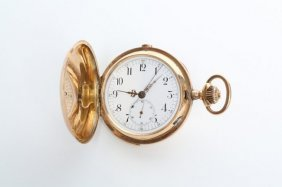 1890s 14k Gold Repeater Pocket Watch
