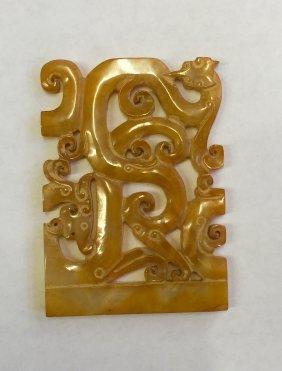 Archaic Jade Plaque. Han Or Earlier.