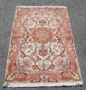 Outstanding Tabriz Hand Woven Silk Highlighted Rug