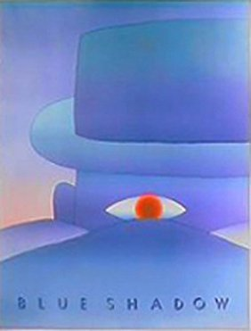 Folon Bleu Shadow Poster 1984