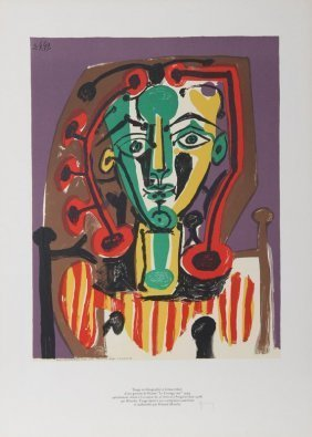 Picasso Le Corsage Raye Mourlot