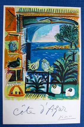 """Picasso """"cote D'azur""""the Original. 1962"""