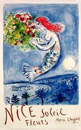 Marc Chagall - Nice Soleil Fleurs The Bay Of Angels