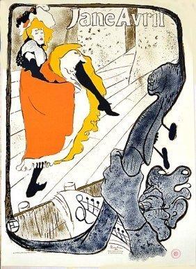 Touluse Lautrec Jane Avril Orignal Lithograph [d'apres]