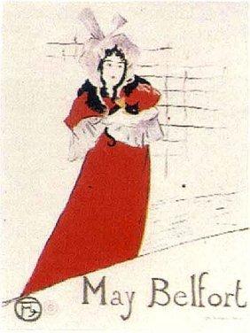 """Lautrec """"may Belfort""""lithograph Muse D' Albi D'apres"""