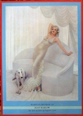 Avedon Phto As Marilyn Monroe As Jean Harlow