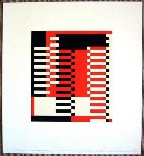 """Josef Albers """"mma Pillars""""original Silkscreen 1970"""