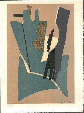 Alberto Magnelli Untitled Plate Signed #53/75 Rare