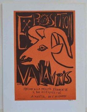 """Picasso """"maison De La Pensee""""litho Printed By Mourlot"""