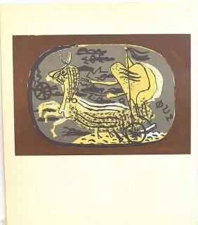 "Braque ""chariot""original Litho Printed By Mourlot"