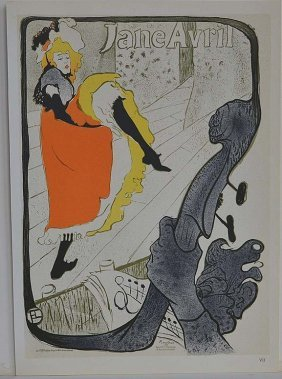 "Lautrec ""jane Avril""litho Printed By Mourlot"