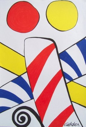 Alexander Calder, American (1898 - 1976) Candy Can Lith