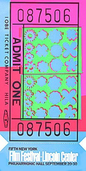 "Andy Warhol ""lincoln Center Ticket""1967"