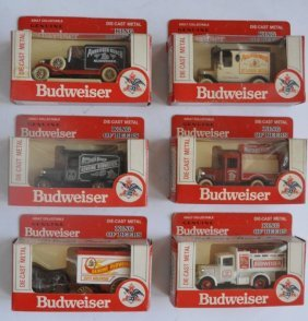 Officially Licensed Budweiser 6 Sets Die-cast Cars