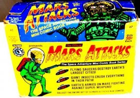 Pocket Comics Mars Attack Adventure Cards Box [1&2]