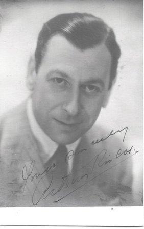 Arthur Riscoe - 3. 25 X 5. 25 Photo W/ Certificate