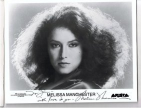Melissa Manchester - 8 X 10 Photo W/ Certificate