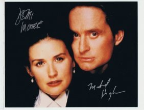 Demi Moore/michael Douglas - 8 X 10 Photo W/