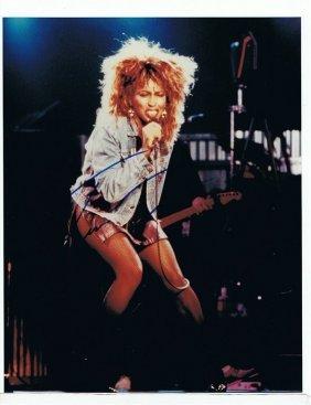 Tina Turner - 8 X 10 Photo W/ Certificate