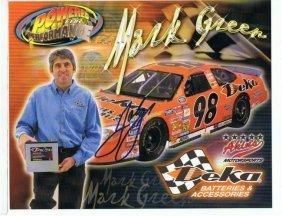 Mark Green - 8 X 10 Sponsor Photo W/ Autograph