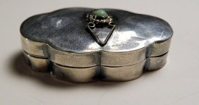 Antique Taxco Eagle Mark Mexican Sterling Silver Pill