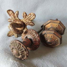 19thc Architectural Hooks, Knobs, Cast Iron