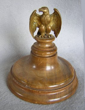 19thc Patirtic Bald Eagle Paperweight