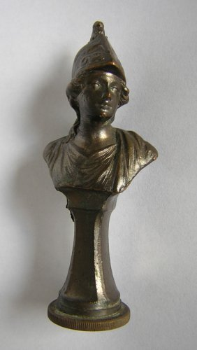 Antique Joan Of Arc Bronze Wax Letter Seal