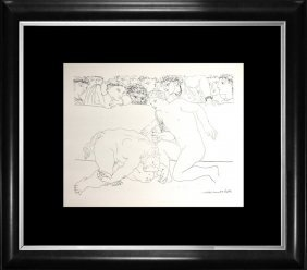 Pablo Picasso Original Lithograph 1956 Mourlot Press