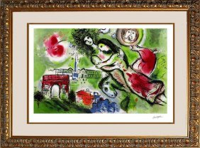 Marc Chagall Limited Edition Lithograph Romeo And