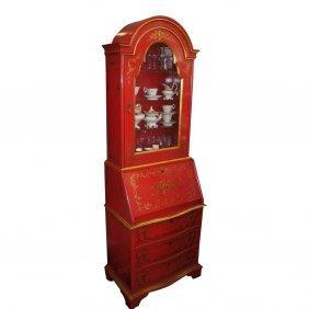 Baker Knapp & Tubbs Widdicomb Red & Gold Chinoiserie