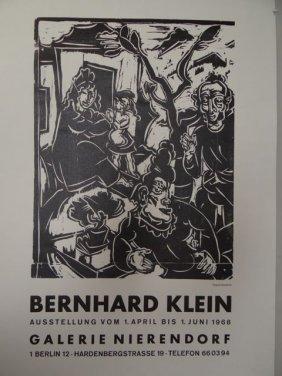 Bernhard Klein (1888-1967): Gallery Poster 1968 Ap401